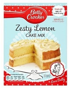 Betty Croker Zesty Lemon Cake Mix (6 x 425g)