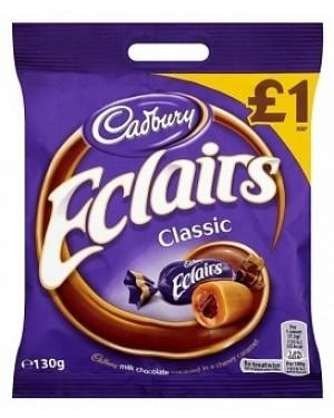 Cadbury Chocolate Eclairs PM£1 (12 x 130g)
