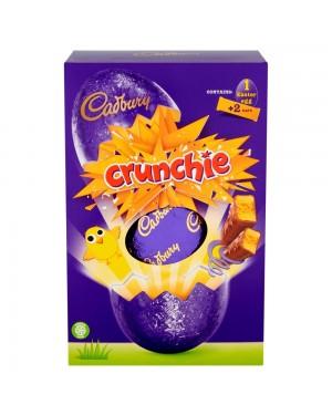 Cadbury Crunchie Large Egg 258G Uovo Di Pasqua Al Cioccolato Con Caramello Croccante
