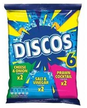 Discos Assorted Crisps 6pk (28 x 153g)