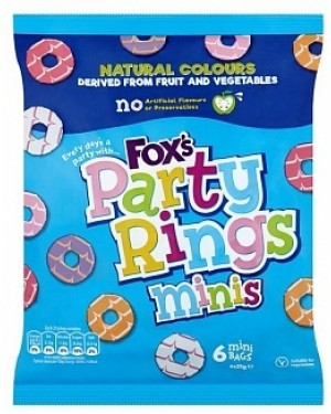 Foxs Party Ring Minis 6pk (10 x 126g)