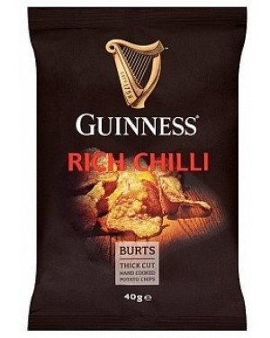 Guinness Rich Chill Hand Cooked Potato Chips (20 x 40g)