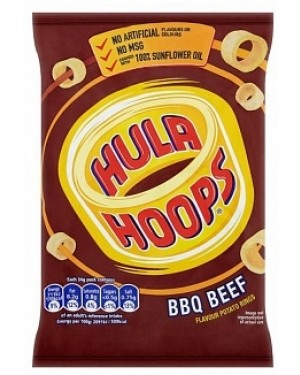 H/hoops Bbq Beef (32 x 34g)