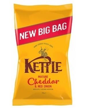 Kettle Cheddar & Red Onion 250g Potato Chips (8 x 250g)
