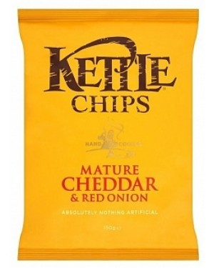 Kettle Chips Mature Cheddar & Red Onion 150 G (12 x 150g)