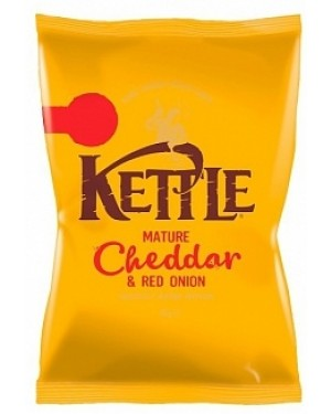 Kettle Chips Mature Cheddar & Red Onion PM69p (18 x 40g)
