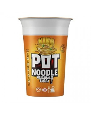 King Pot Noodle Original Curry (12 x 114g)