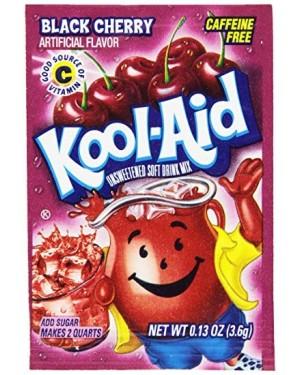 Kool Aid Black Cherry Mix Per Creare Bevanda Da 2Lt Gusto Ciliegia Nera 4,8G