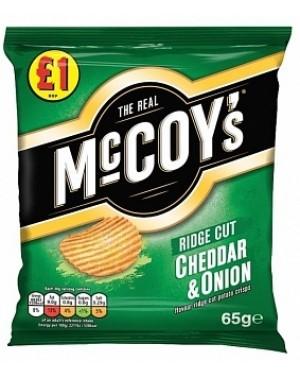 Mccoys Cheddar & Onion PM£1 (16 x 65g)
