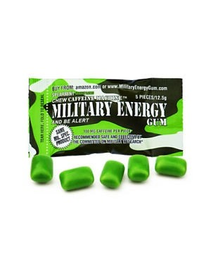 Military Energy Gum Mint Gomme Da Masticare Energetiche Usate Dai Marines Gusto Menta