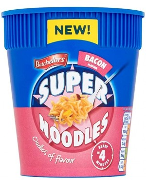 Batchlor Super Noodle Pot Bacon (8 x 75g)