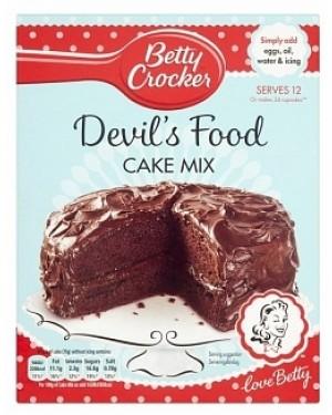 Betty Croker Devils Food Cake Mix (6 x 425g)