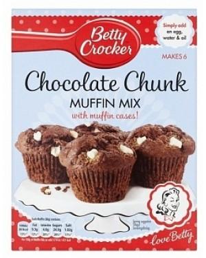 Betty Croker Muffin Mix Choc Chunk (4 x 335g)