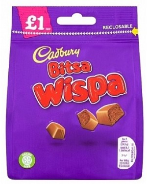 Cadbury Bitsa Wispa PM£1 (10 x 95g)