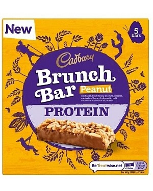 Cadbury Brunch Bar Peanut Protein 6pk (6 x 160g)
