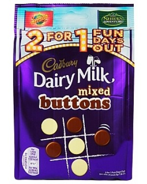 Cadbury Dairy Milk Mixed Buttons (10 x 115g)