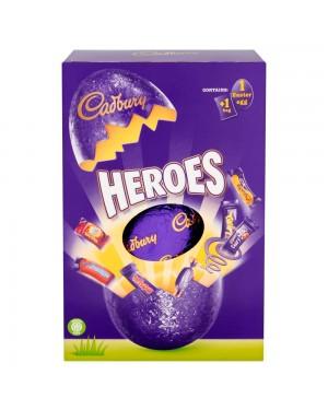 Cadbury Heroes Large Egg 254G Uovo Di Pasqua Ripieno Di Barrette Di Cioccolato E Caramelle