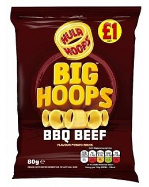 H/hoops Big Hoops Bbq Beef PM£1 (16 x 80g)