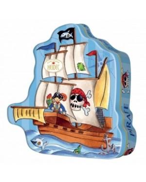 Heidel Pirate Tin Confezione In Latta A Forma Di Nave Dei Pirati Ripiena Di Cioccolata Begla Fatta A Mano