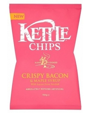 Kettle Chips Bacon & Maple Syrup (12 x 150g)