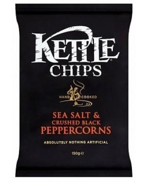 Kettle Chips Salt & Black Pepper (12 x 150g)