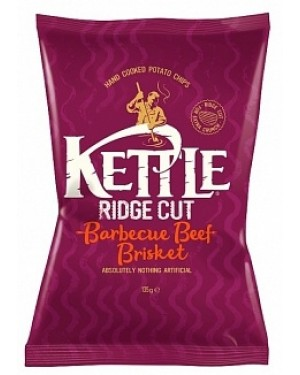 Kettle Ridge Cut Barbecue Beef Brisket Hand Cooked (8 x 135g)
