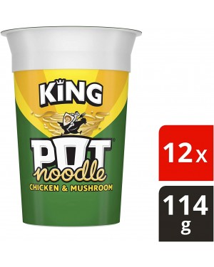 King Pot Noodle Chicken & Mushroom (12 x 114g)