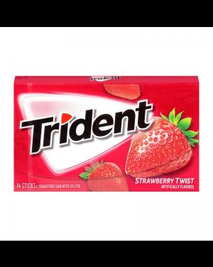 Trident Strawberry Gomme Da Masticare Gusto Fragola